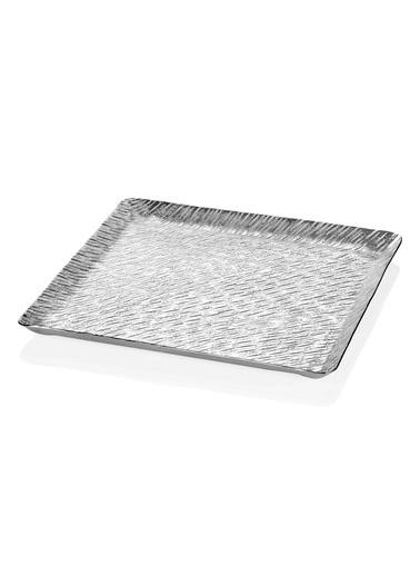 The Mia Sehpa Dekoru Tepsi Gümüş